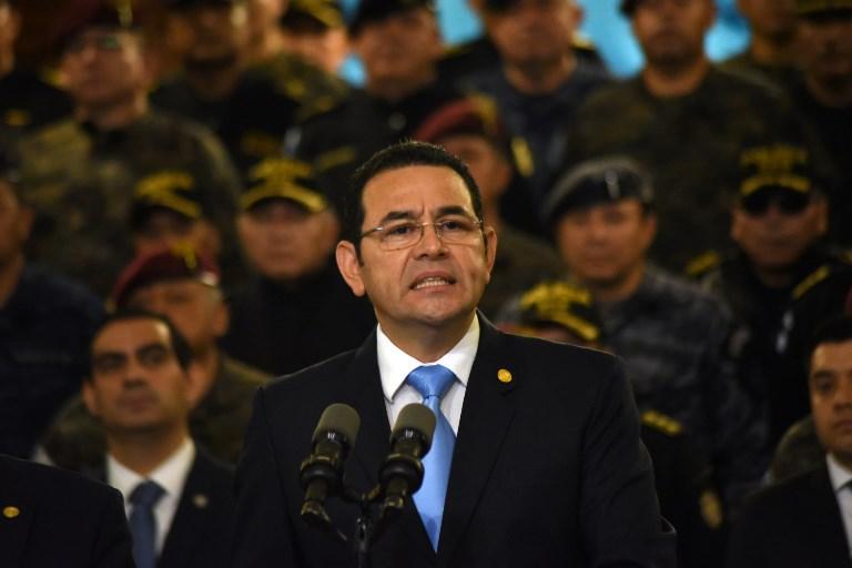 El mandatario mantienedesde hace un año una fuerte discrepancia con el jefe de la Cicig. FOTO: AFP