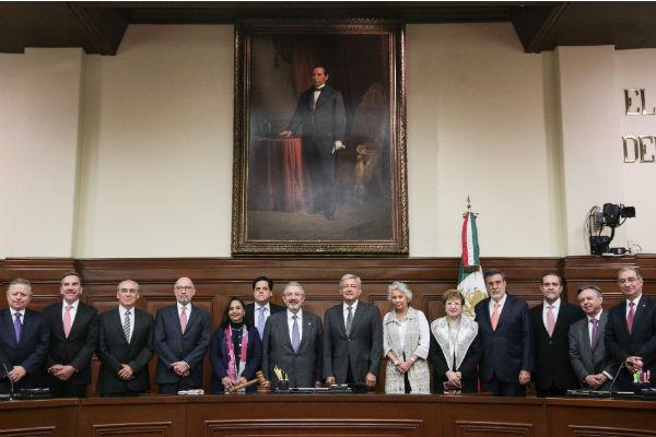 En entrevista, Peralta indicó que fue muy buena señal el encuentro del Presidente Electo, Andrés Manuel López Obrador y los magistrados. FOTO: ARCHIVO / CUARTOSCURO