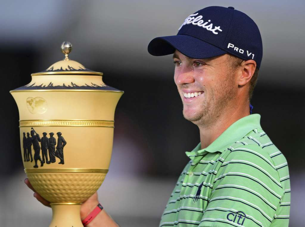Logra Justin Thomas victoria en el Bridgestone Invitational de golf