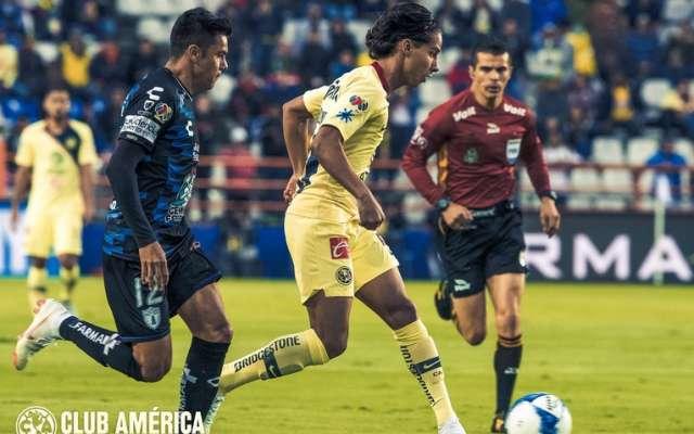 10355e96253 Con dos goles de Lainez y uno de Peralta, América vence 3-1 a Pachuca