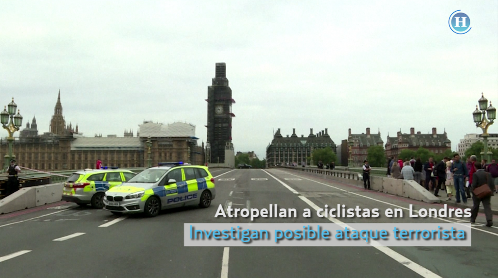 Atropellan a ciclistas en Londres