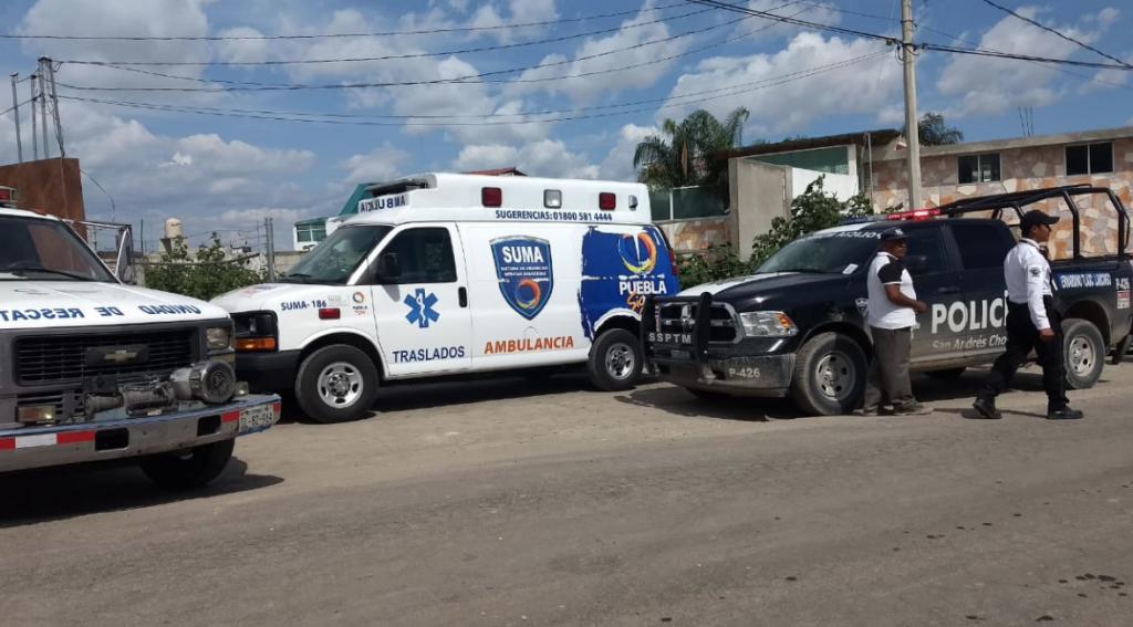 PC Puebla confirma un muerto en derrumbe en Cholula. Foto: @PC_Estatal