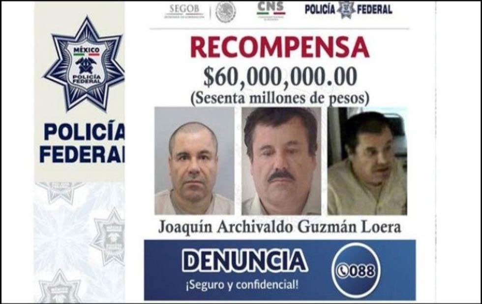 El gobierno mexicano ofreció hasta 60 millones por el líder del Cártel de Sinaloa