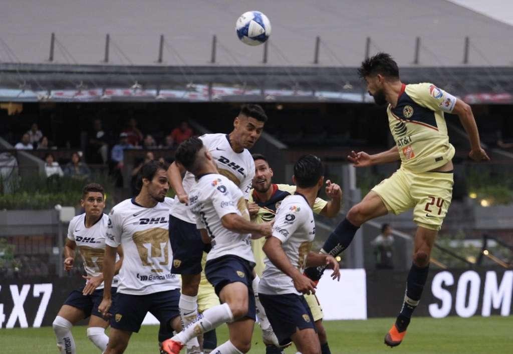 Las Águilas del América recibieron a los Pumas de la UNAM, en partido correspondiente a la jornada 7 de la Liga MX (Foto: Cuartoscuro)