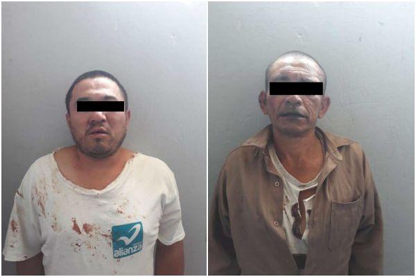 Los presuntos delincuentes fueron trasladados al Centro de Salud de Tlahuelilpan, donde fueron dados de alta y puestos a disposición del Ministerio Público de Mixquiahuala. FOTOS: ESPECIALES