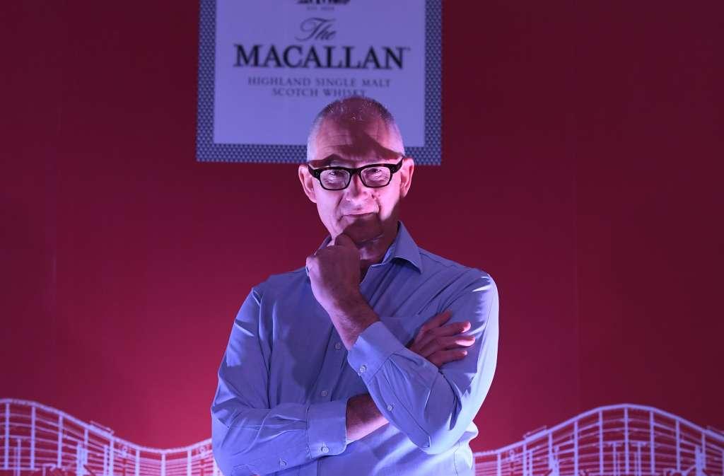Ken Grier en la  presentación de la expo en Casa Basalta (Foto:  PABLO SALAZAR)