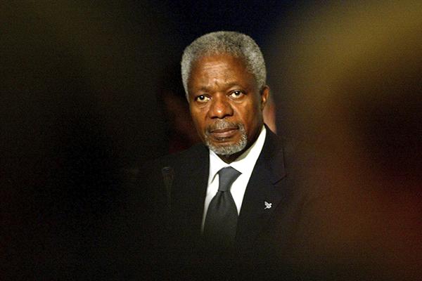 Kofi Annan recibió el Premio Nobel de la Paz en 2001. FOTO: REUTERS