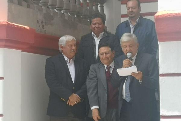 En la conferencia, Víctor Villalobos anunció cuatro ejes de cómo trabajara la dependencia a su cargo a partir del 1 de diciembre. FOTO: ESPECIAL