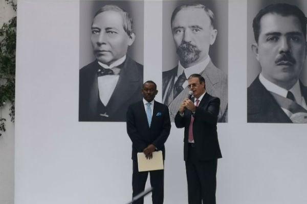 Ebrard indicó que además de las relaciones comerciales se habló de recuperar la visión de la política común hacia el futuro. FOTO: ESPECIAL