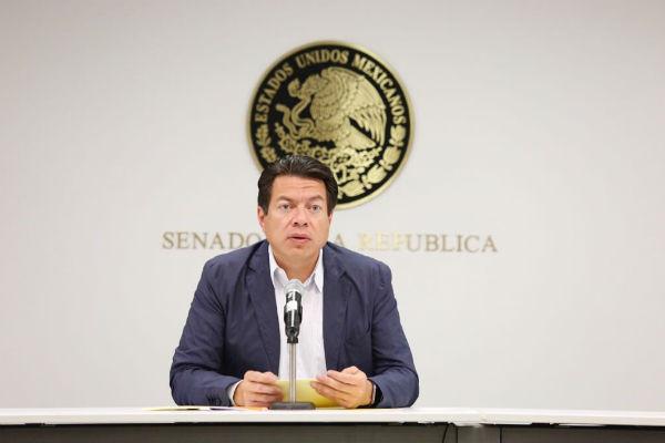 Mario Delgado, coordinador parlamentario de Morena, aseguró que la decisión obedeció a un acuerdo político más que a la fuerza numérica. FOTO: ESPECIAL