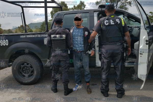 El detenido fue puesto a disposición del Ministerio Público de Atlacomulco, donde se definirá su situación jurídica. FOTO: ESPECIAL