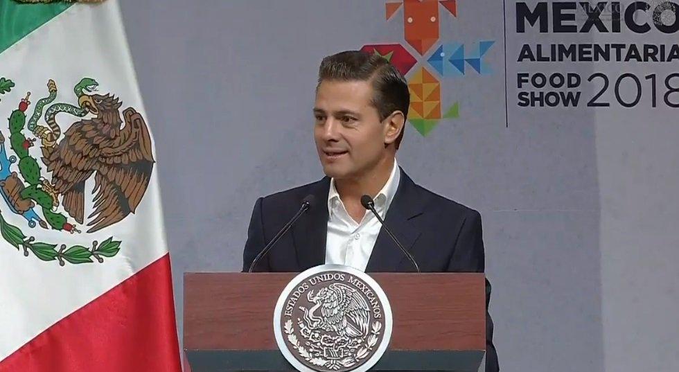 El presidente Enrique Peña Nieto destacó que la exportación de productos agroalimentarios pasó de ser una actividad relevante a una estratégica