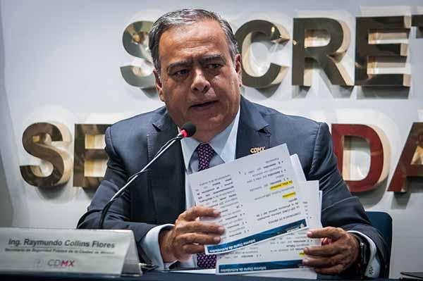 Raymundo Collins, secretario de Seguridad Pública de la Ciudad de México. FOTO: CUARTOSCURO