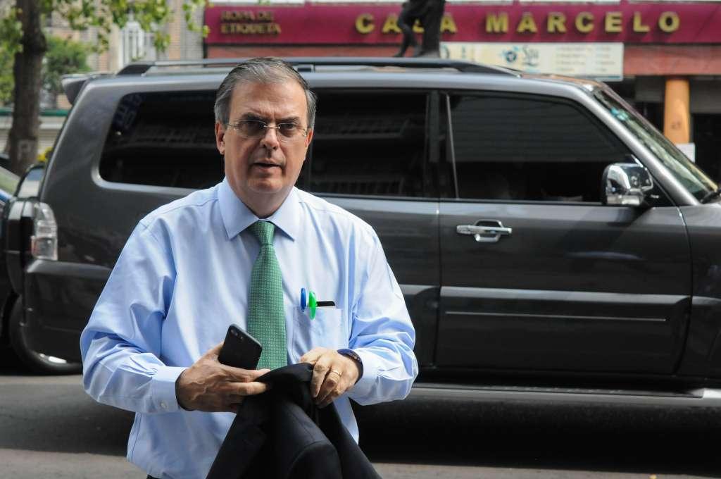 Marcelo Ebrard Casaubón, próximo Secretario de Relaciones Exteriores, asistió a la reunión que sostuvo el presidente electo-. FOTO: CUARTOSCURO