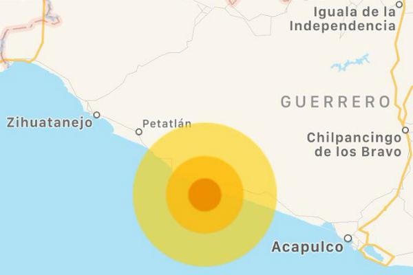 De acuerdo al Servicio Sismológico Nacional, el movimiento telúrico tuvo su epicentro a 14 kilómetros al oeste de Técpan de Galena, con latitud 17.25 y longitud 100.76, a una profundidad de 10 kilómetros. FOTO: ESPECIAL
