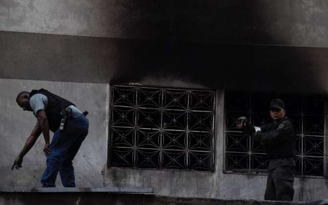 Las detonaciones ocurrieron durante el acto de conmemoración por la Guardia Nacional Boliviariana. FOTO: AFP