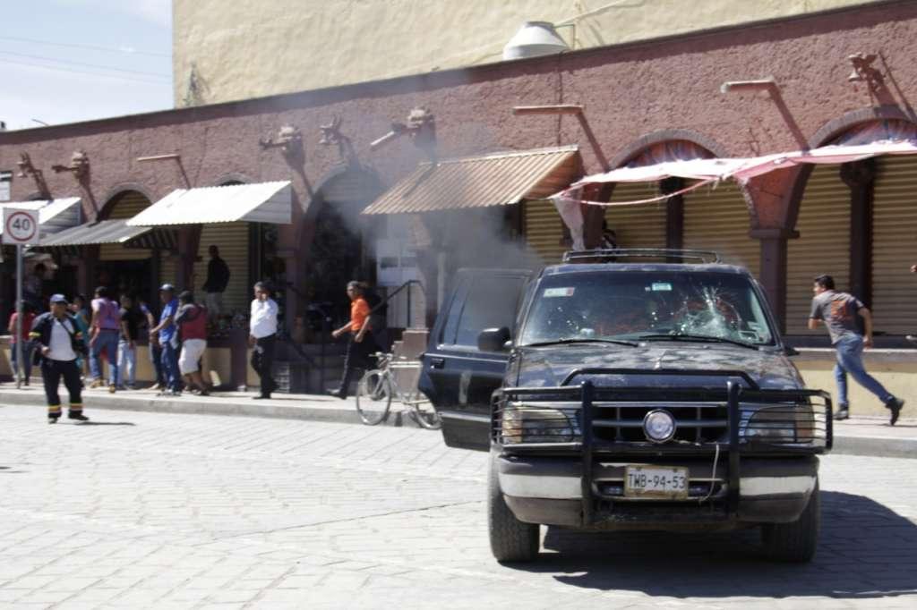 Los elementos fueron detenidos por agentes ministeriales que se encuentran en la zona . FOTO: ESPECIAL
