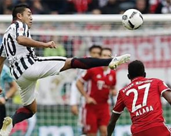 Marco Fabián fue desplazado por Nicolai Müller. FOTO: TWITTER