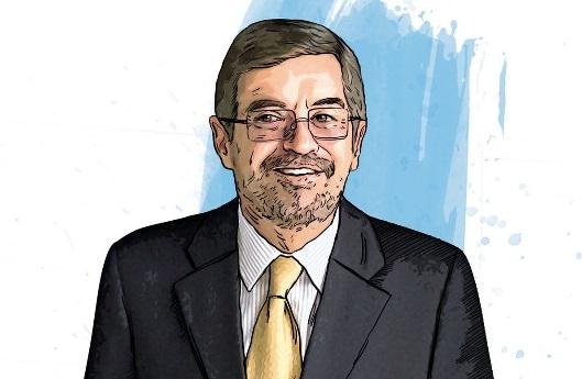 La imagen del ex rector que va a la ONU