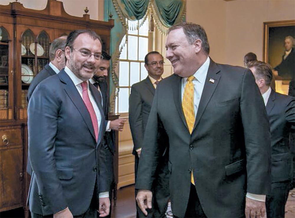 Luis Videgaray se reunió con Mike Pompeo para hablar de los flujos migratorios (Foto: Especial)