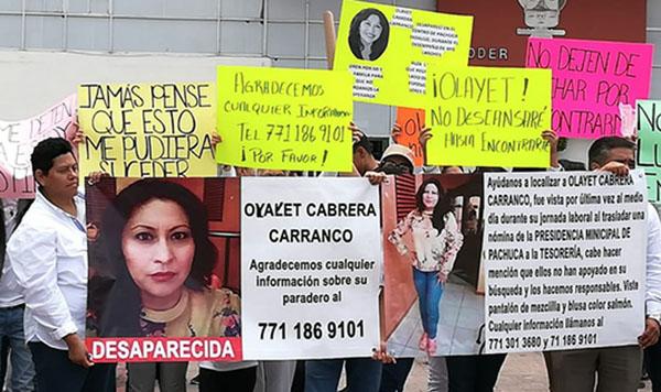 Olayet Cabrera desapareció el pasado 29 de junio al salir de Casa Rule al mediodía con la nómina de los trabajadores del ayuntamiento