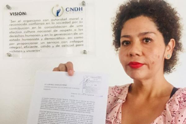 La periodista esperará ahora la actuación de Protección a los Derechos de los Periodistas. FOTO: ESPECIAL