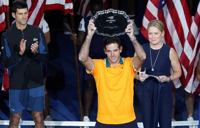Juan Martin del Potro de Argentina ocupa el segundo lugar después de jugar contra Novak Djokovic de Serbia durante su partido final de singles masculinos del Abierto de Estados Unidos 2018 el 9 de septiembre de 2018 en Nueva York. Foto: AFP