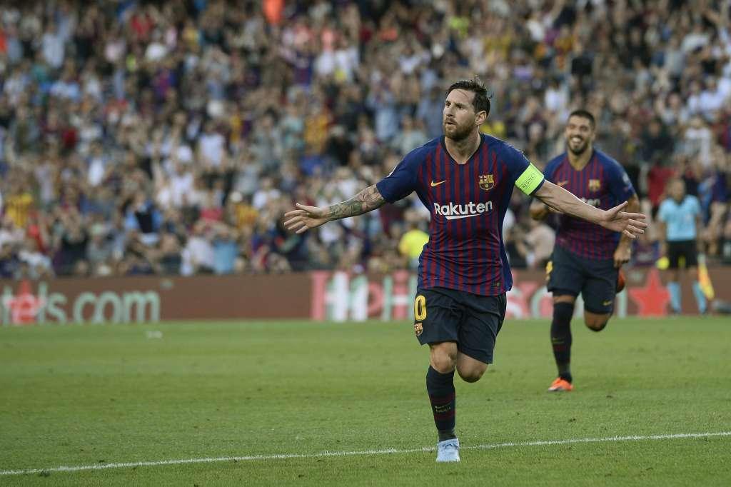 Con triplete de Lionel Messi, el Barcelona goleó 4-0 al PSV Eindhoven. Foto: AFP