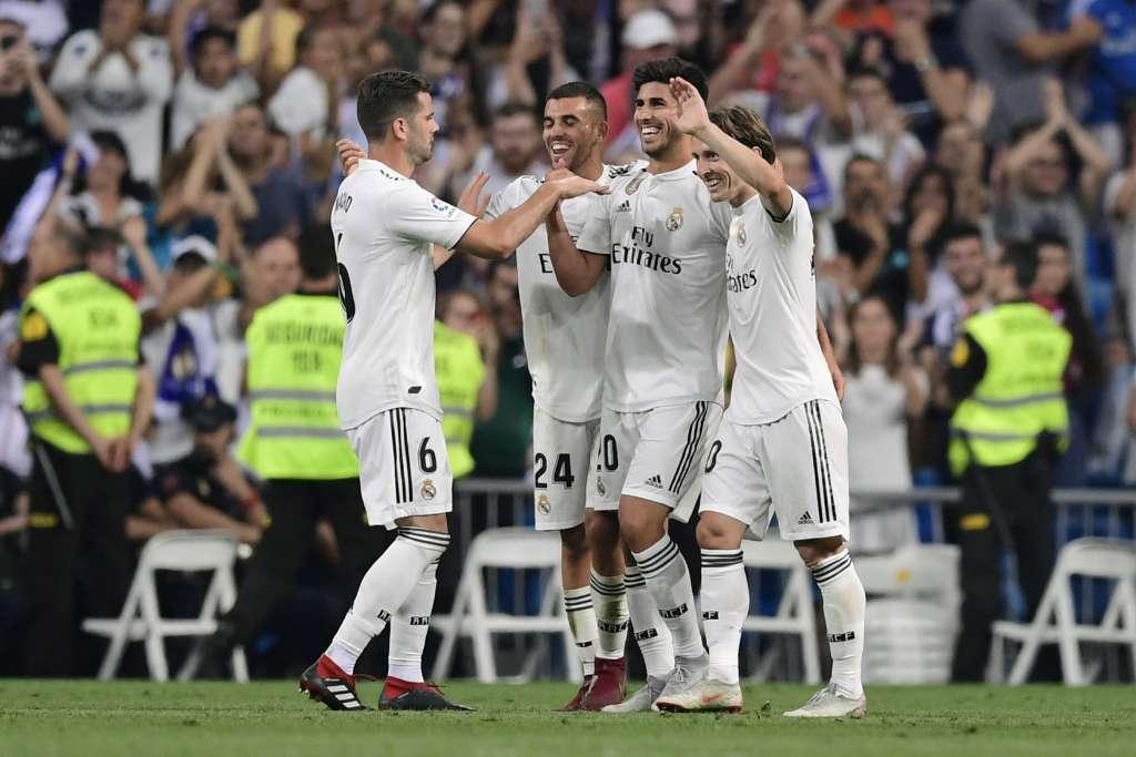 Apenas con lo mínimo y con momentos de incertidumbre a lo largo del partido, el club Real Madrid se impuso 1-0 al Espanyol. Foto: AFP