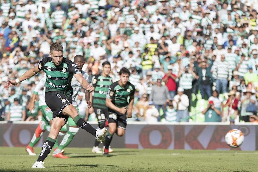 Foto del partido Santos vs. Leon correspondiente a la jornada 9 del torneo Apertura 2018 de la Liga BBVA Bancomer MX desde el estadio TSM Corona. Foto: Mexsport