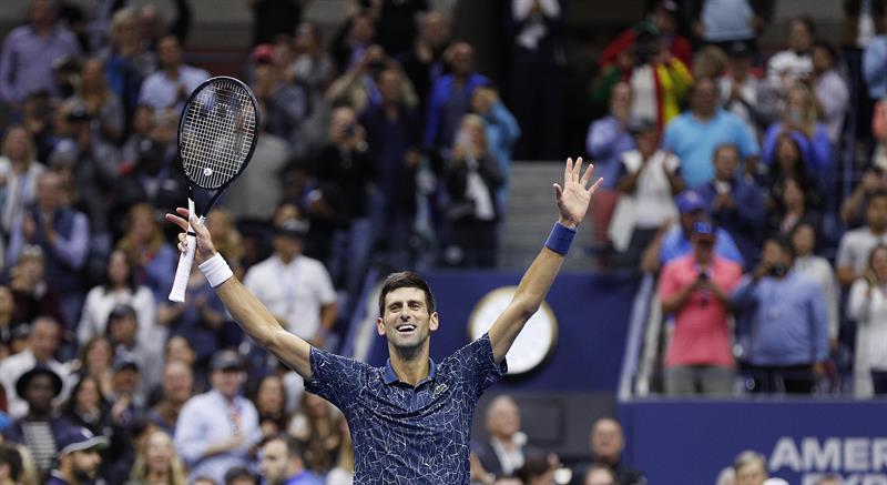 Djokovicse proclama nuevo campeón del Abierto de EU. Foto: EFE.