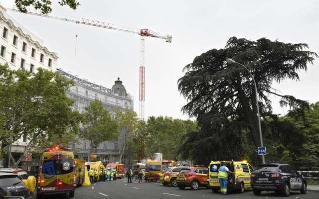Un muerto y once heridos en un derrumbe de las obras delhotelRitz deMadrid. Foto: EFE
