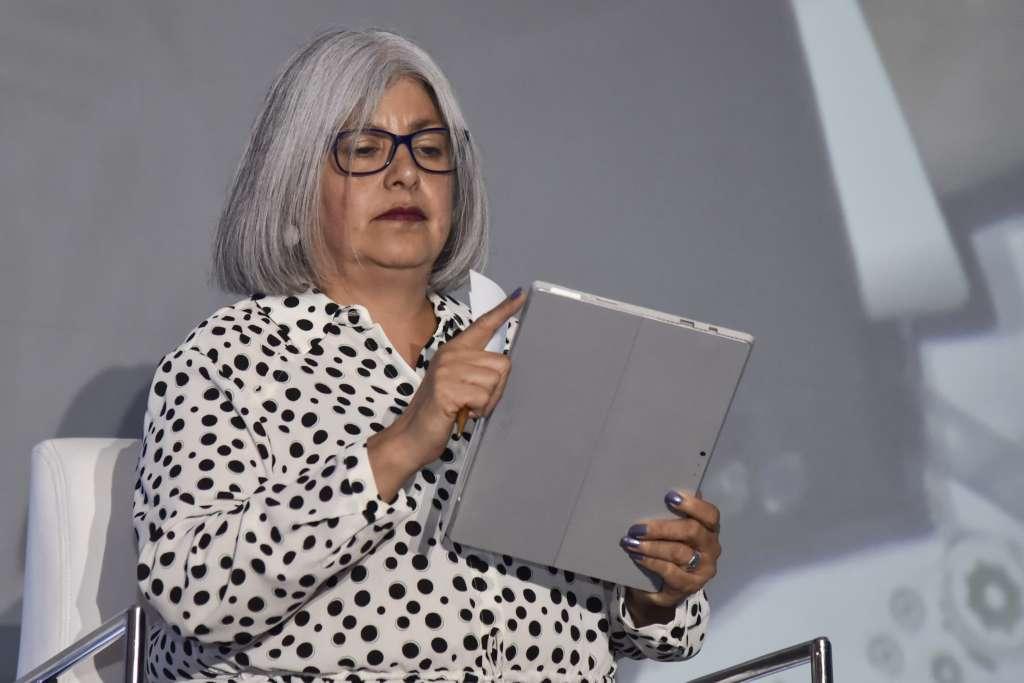 Graciela Márquez participó en la Reunión Anual de Industriales. FOTO: CUARTOSCURO