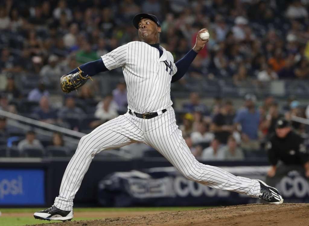 El jugador cubano fuera de los parques por 28 días por una tendinitis en la rodilla izquierda. Foto: AP