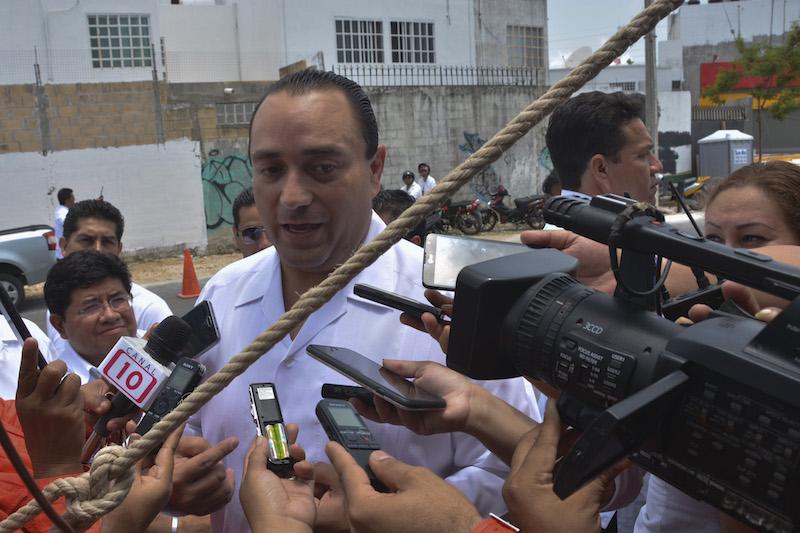 Imagen del exgobernador Roberto Borge Angulo, en una entrevista con los medios de comunicación. Archivo FOTO: ELIZABETH RUIZ /CUARTOSCURO.COM