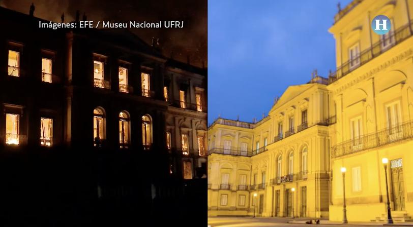 Museo Nacional de Río de Janeiro (antes y después)