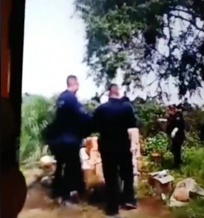 Presuntos policías de Michoacán