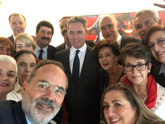 Manuel Gómez Morín buscará la dirigencia del PAN. Foto: @GustavoMadero