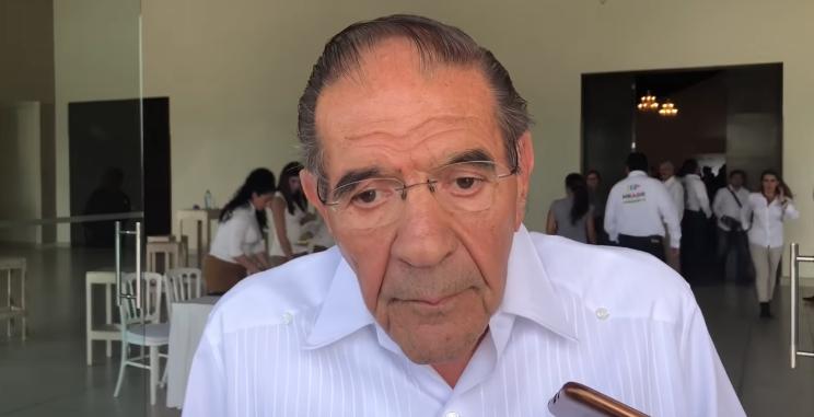 Usabiaga en su última entrevista,  reconoció que financió comida en apoyo a Meade. Captura de Video: Ágora Guanajuato