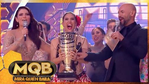 """Greeicy Rendón es la ganadora de  """"Mira quién baila"""" 2018. Foto: @MQuienBailaMX"""