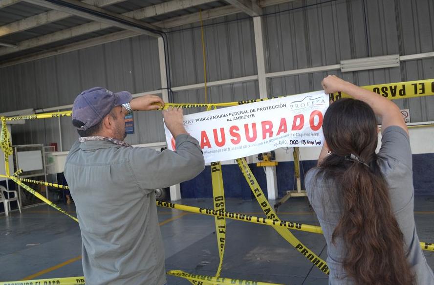 Profepa clausura taller mecánico de Pepsico en Colima. Foto: @PROFEPA_Mx