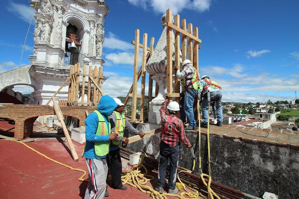 A un año de los sismos, la Secretaria de Cultura y el INAH presentan avances en recuperación del patrimonio cultural afectado. Foto: @INAHmx