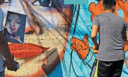 El proyecto de los rostros comenzó en 2013. FOTOS: HÉRIKA MARTÍNEZ