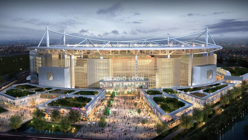 Club León presenta proyecto de su nuevo estadio previsto para 2021. Foto:  @clubleonfc