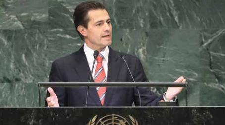El Presidente habló por última vez en su mandato frente a la ONU. FOTO: ESPECIAL