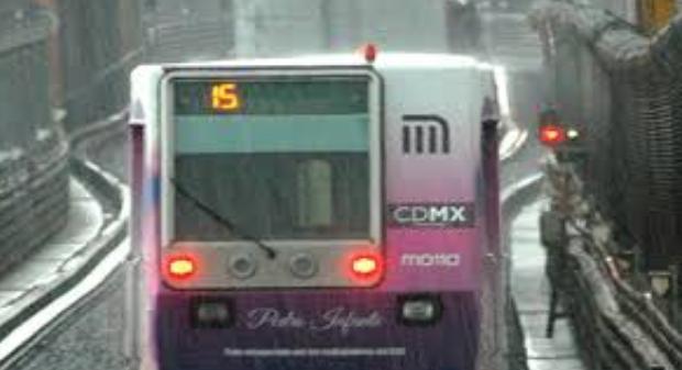 Por lluvia marcha de seguridad en líneas 1,2,3 y B del Metro: Foto; STC metro