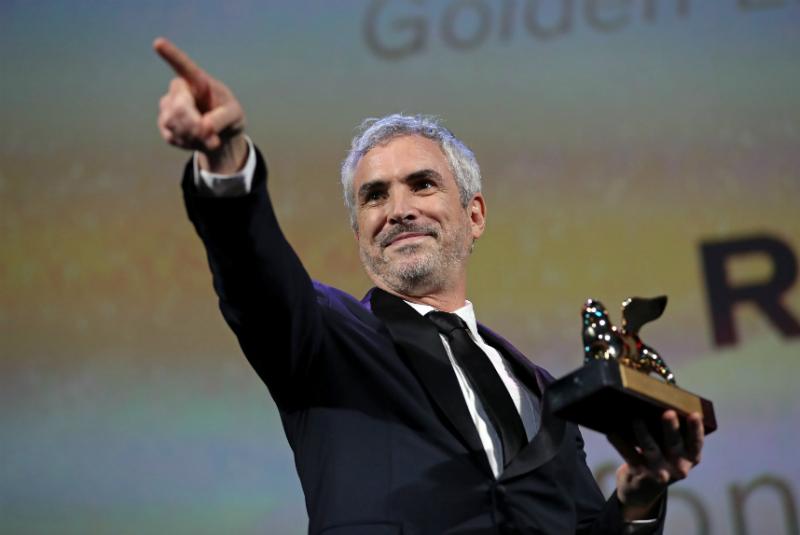 Con la presea entre sus manos, el realizador mexicano se refirió a la importancia de dar voz a los más débiles a través del cine
