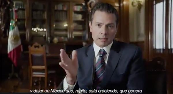 El presidente Enrique Peña Nieto publicó un nuevo video con motivo de su Sexto Informe de Gobierno.