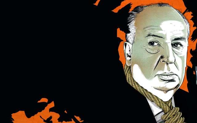 La exposición sobre Alfred Hitchcock permite conocer la relación del director con la cultura pop y las mujeres. ILUSTRACIÓN: ALLAN G. RAMÍREZ