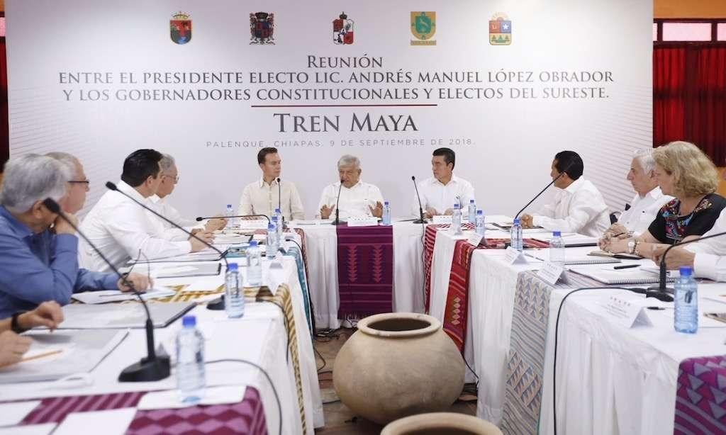 Tren Maya recibe respaldo de gobernadores del sur del país. Foto: Cuartoscuro.com